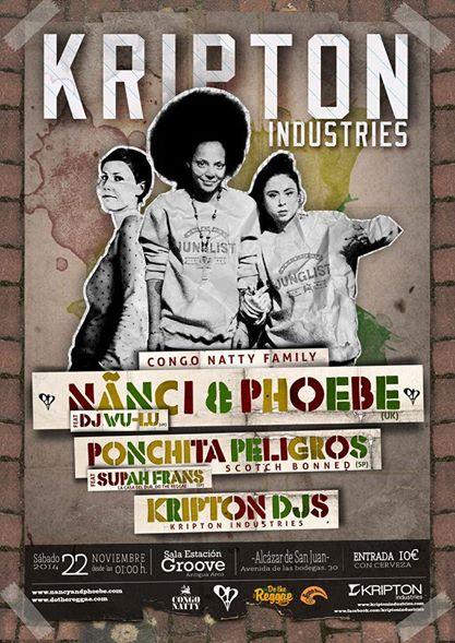 Nanci & Phobe + Ponchita Peligros feat Supah Frans + Kripton Deejays - Alcazar de San Juan - 22/11/2014.