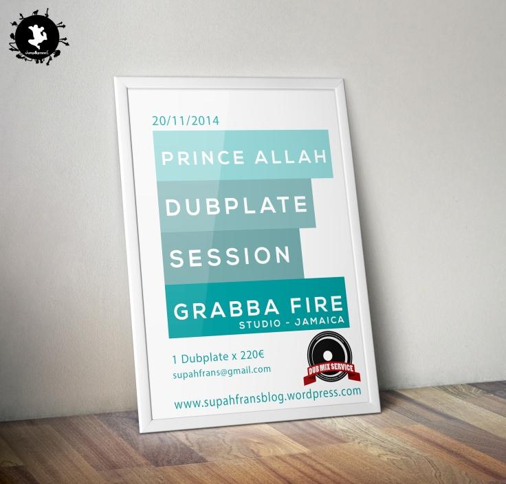 Prince Allah Dubplate Session - Dubmix Service - Supah Frans