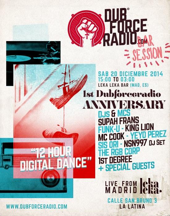 Dub Force Radio anniversary www.dubforceradio.com