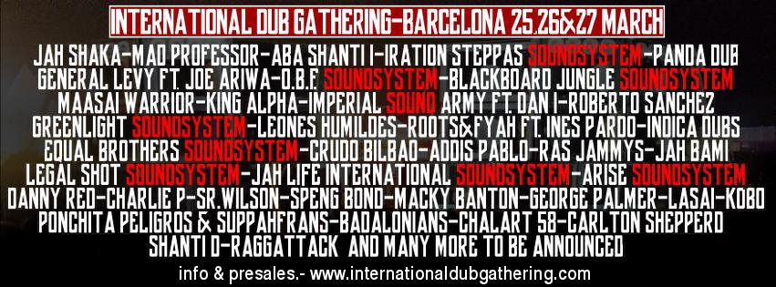 international, dub, gathering, supah frans, do the reggae, jump and prance, ponchita peligros, reggae, roots, rubadub ting, mad professor, aba shanti, jah shaka